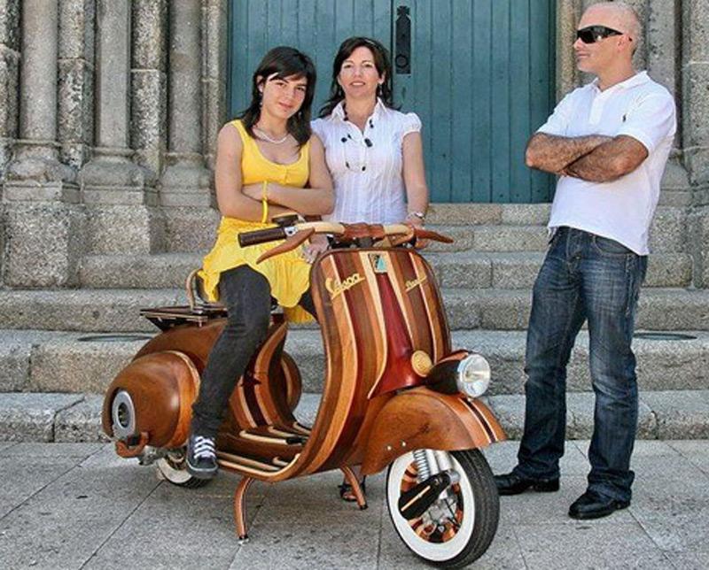 В Португалии создали мотороллер из дерева Vespa Danielle