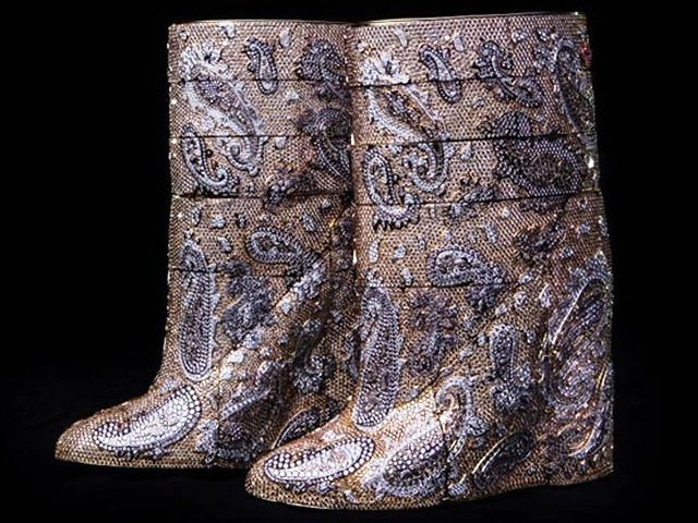 Most expensive boots are diamond studded by Vandevorst cost 3.1 mn dollars