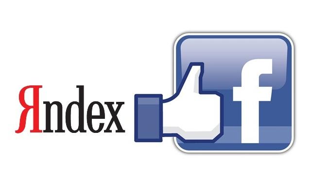 Yandex search Facebook