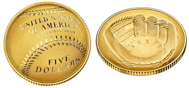 2014 National Baseball Hall Gold Coin