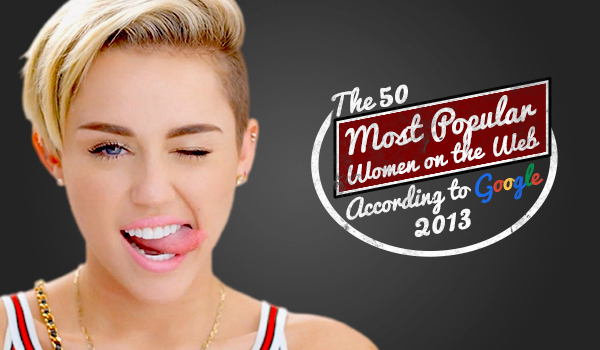 50 Most Popular Women on the Web According to Google 2013-2014