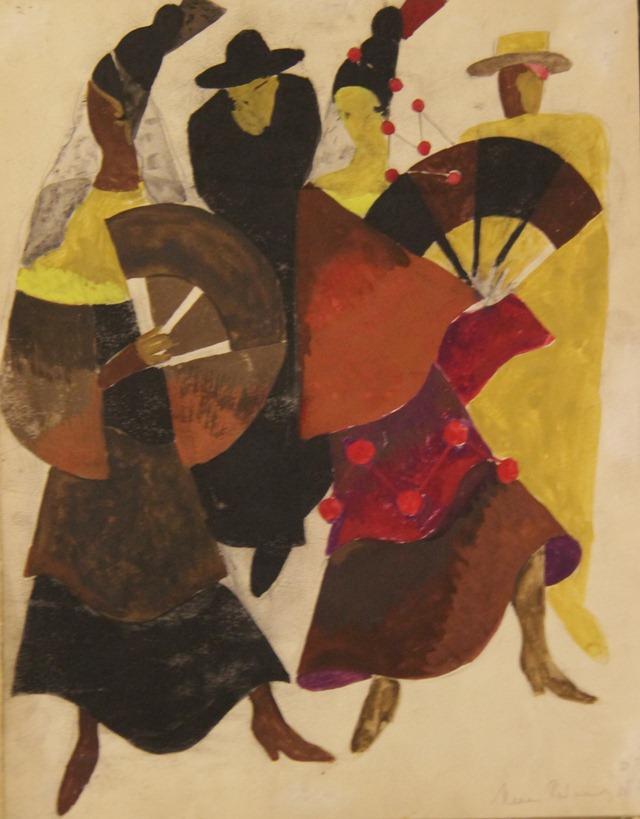 Карменсита и солдат (1924). Костюмы испанок 2