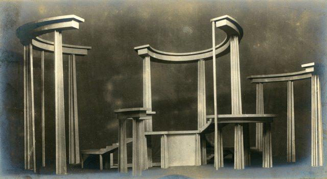 Лисистрата (1923). Макет декорации
