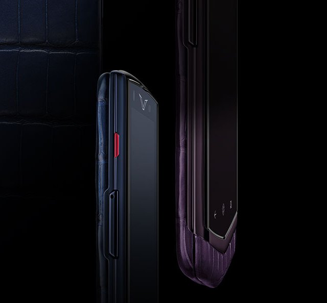 Vertu Constellation Pure Navy Alligator and Pure Plum Alligator 2