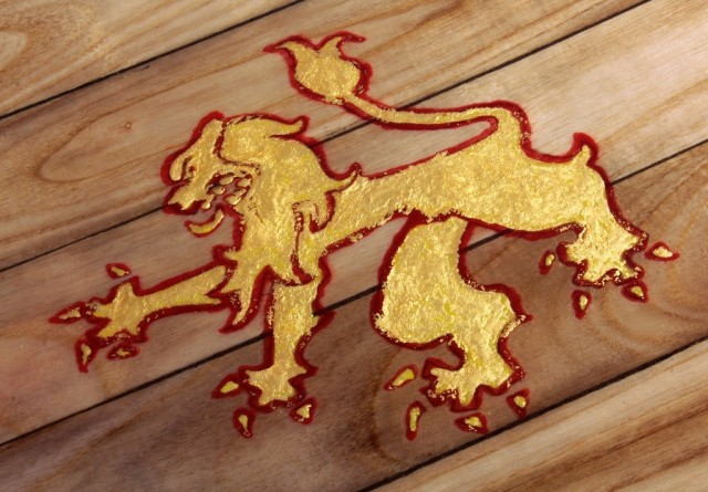 Lion Rampant Surfboard by Roy Stuart