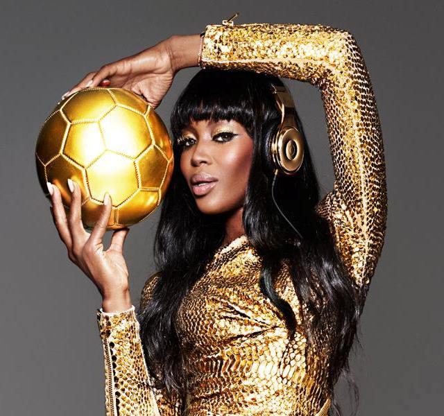 Naomi Campbell Beats by Dre Golden Beats Pro headphones 2