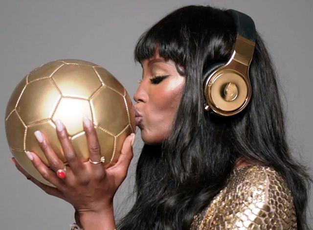 Naomi Campbell Beats by Dre Golden Beats Pro headphones 3