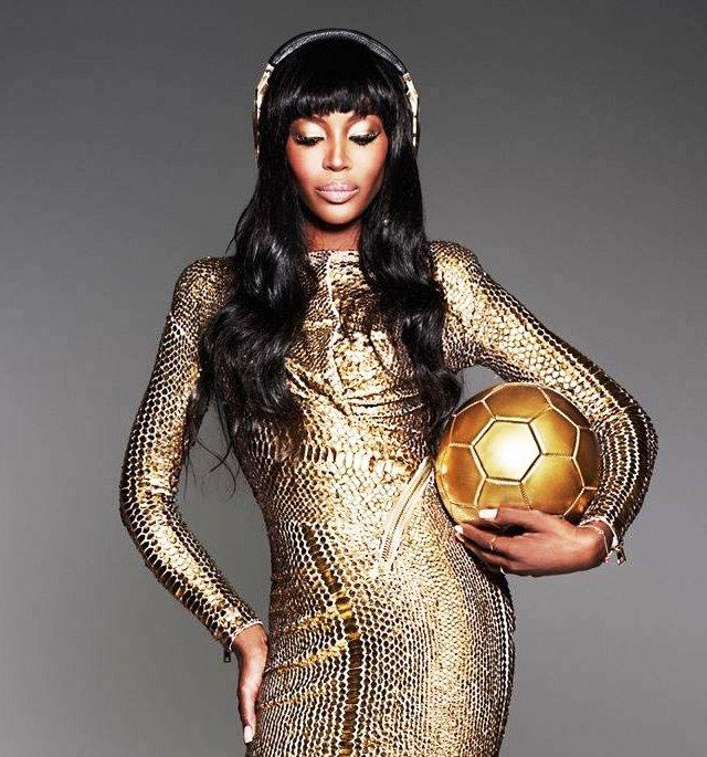 Naomi Campbell Beats by Dre Golden Beats Pro headphones 4