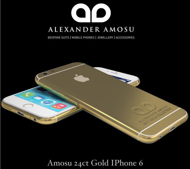 Amosu 24ct Gold IPhone 6