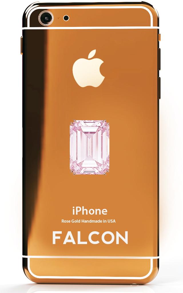 FALCON SuperNova iPhone Rose Gold Pink Diamond