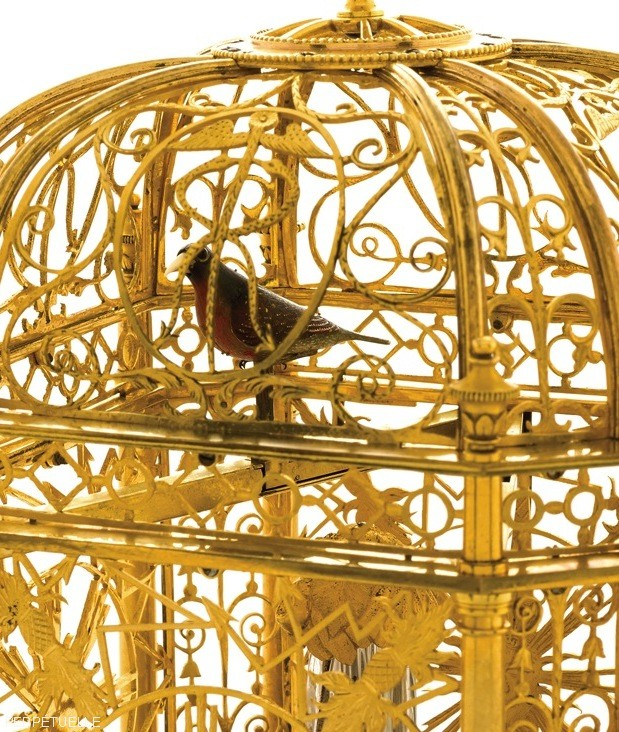 Singing Bird Cage Clock Automaton by Jaquet Droz 2