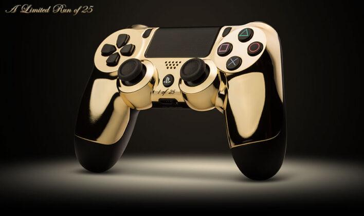 Золотые контроллеры для Xbox и PS от ColorWare