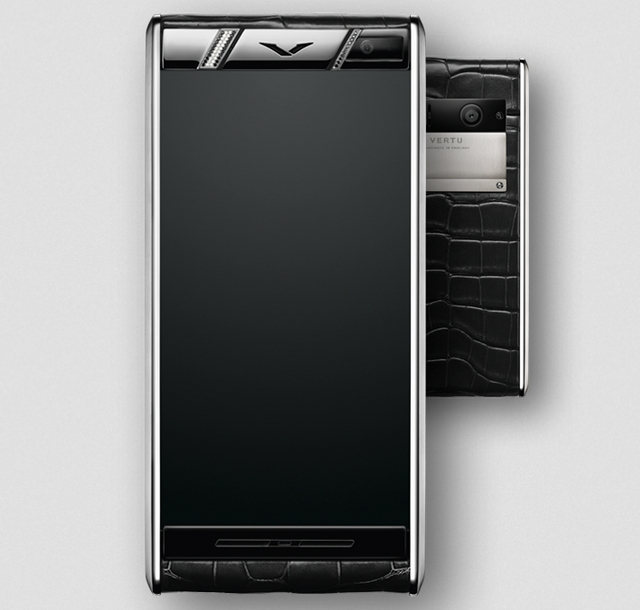 Vertu Diamonds Black Alligator