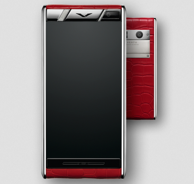 Vertu Diamonds Red Alligator