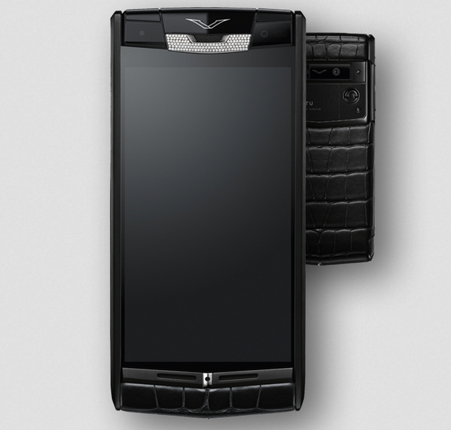 Vertu Pure Jet Alligator Diamonds