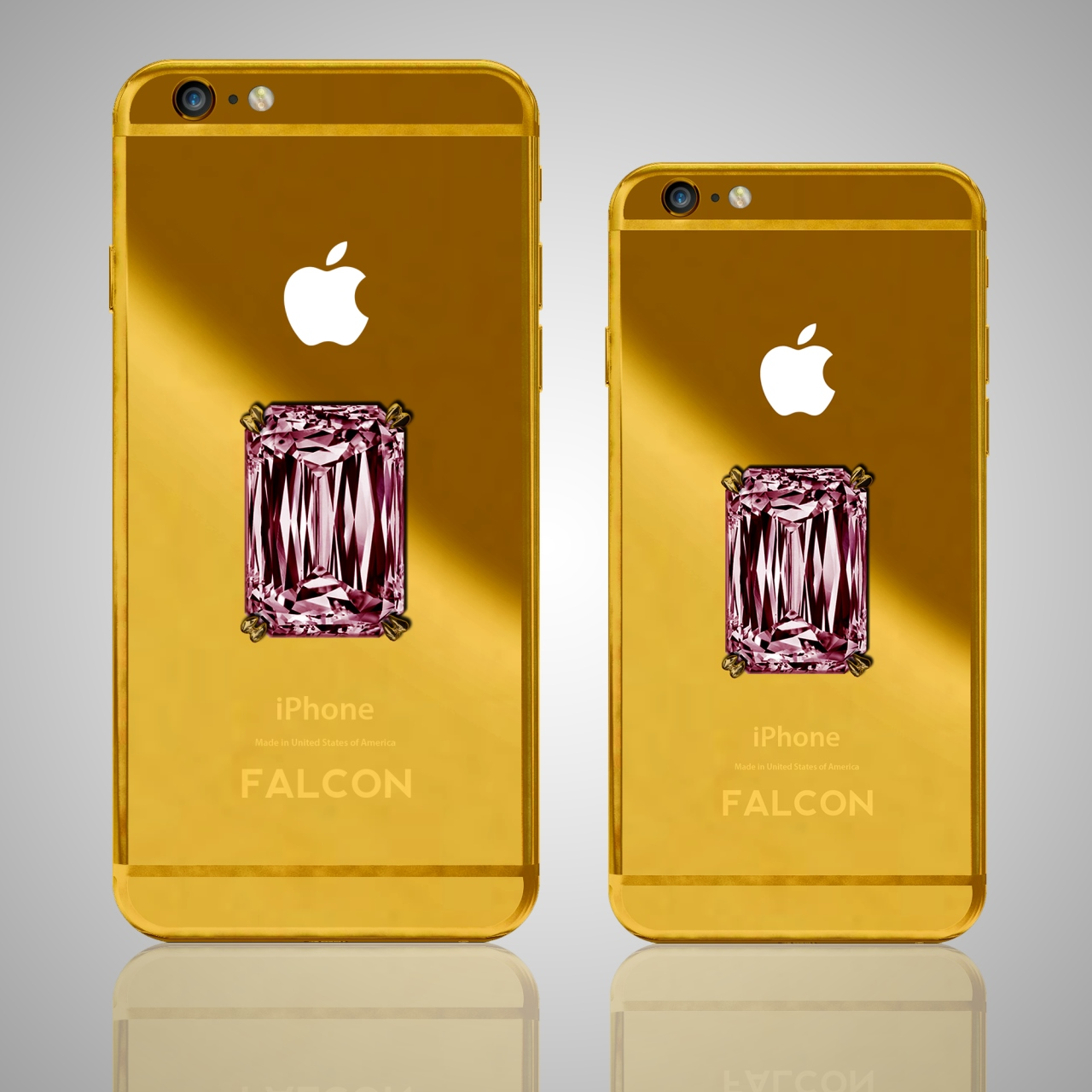 FALCON SuperNova 18K Gold iPhone Pink Diamond