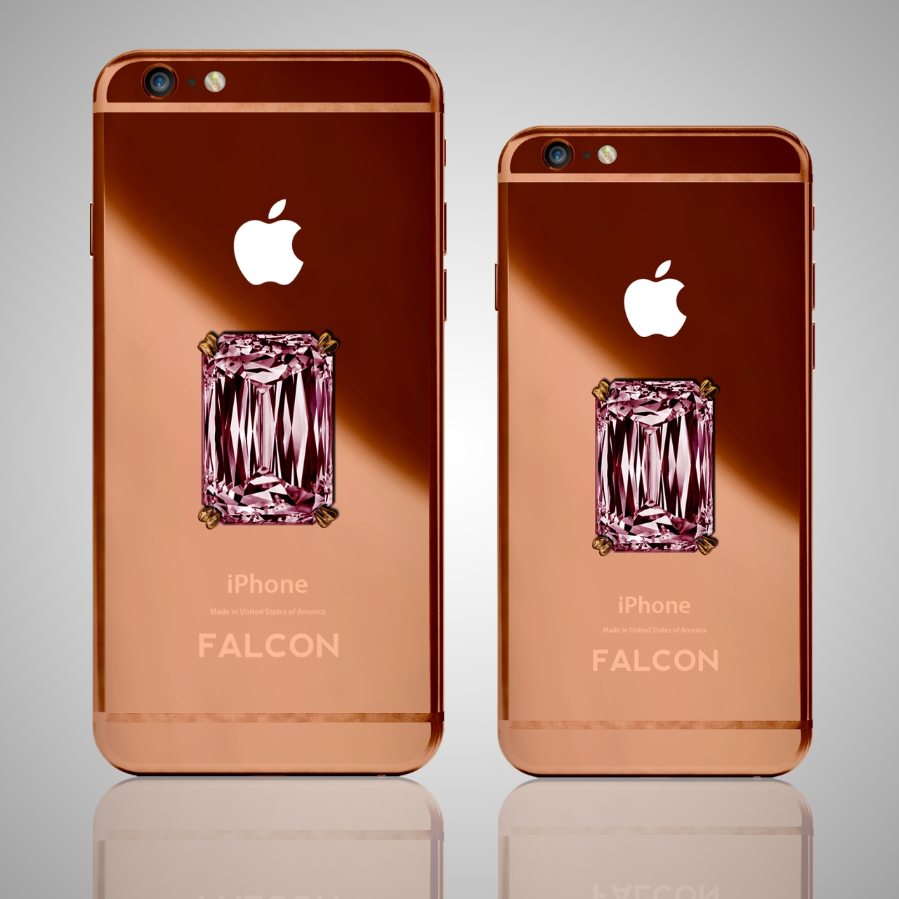 FALCON SuperNova Rose Gold iPhone Pink Diamond