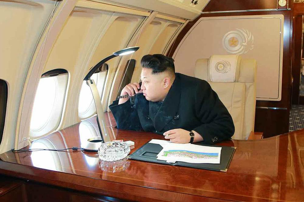 Kim Jong Un- Private Jet Il-62m