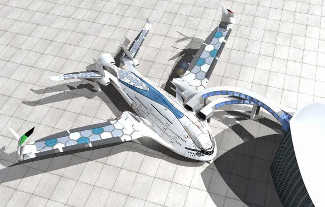 Футуристический авиалайнер AWWA Sky Whale