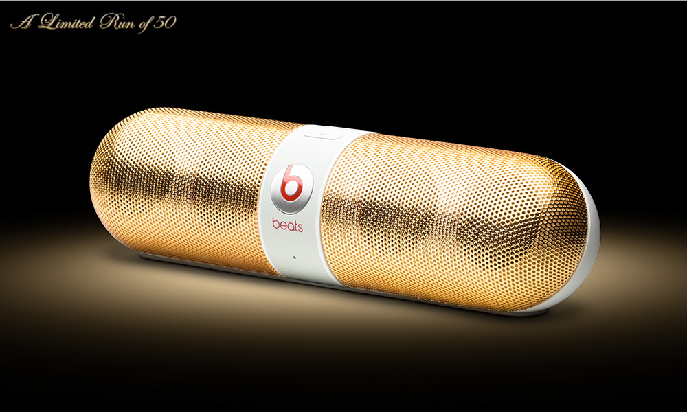 Beats Pill 24K Black and 24K White by ColorWare 2