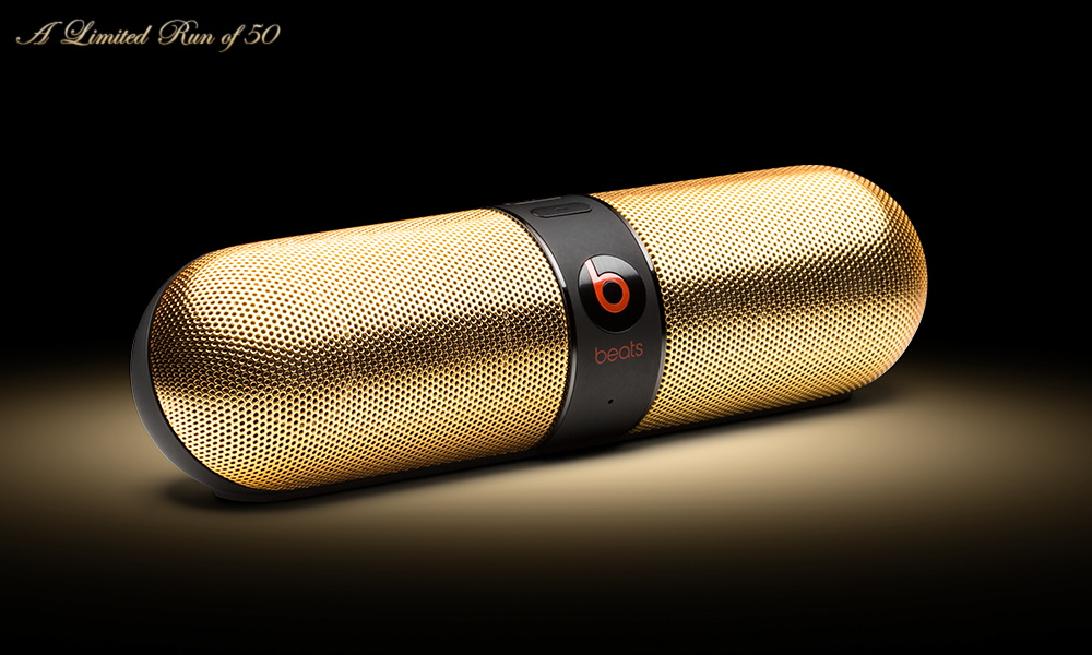 Beats Pill 24K Black and 24K White by ColorWare 3