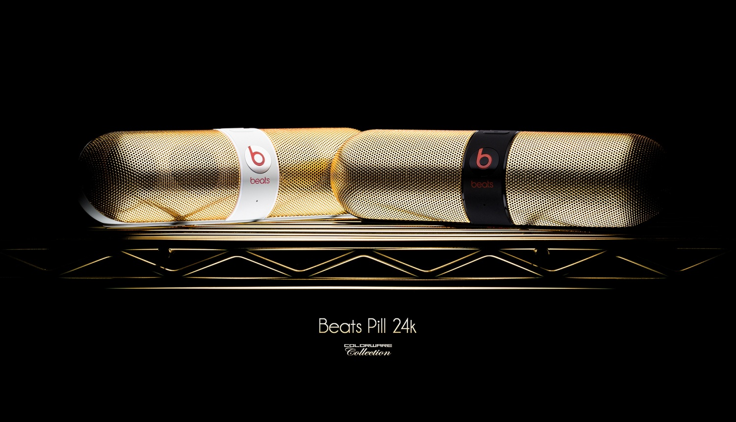 Beats Pill 24K Black and 24K White by ColorWare