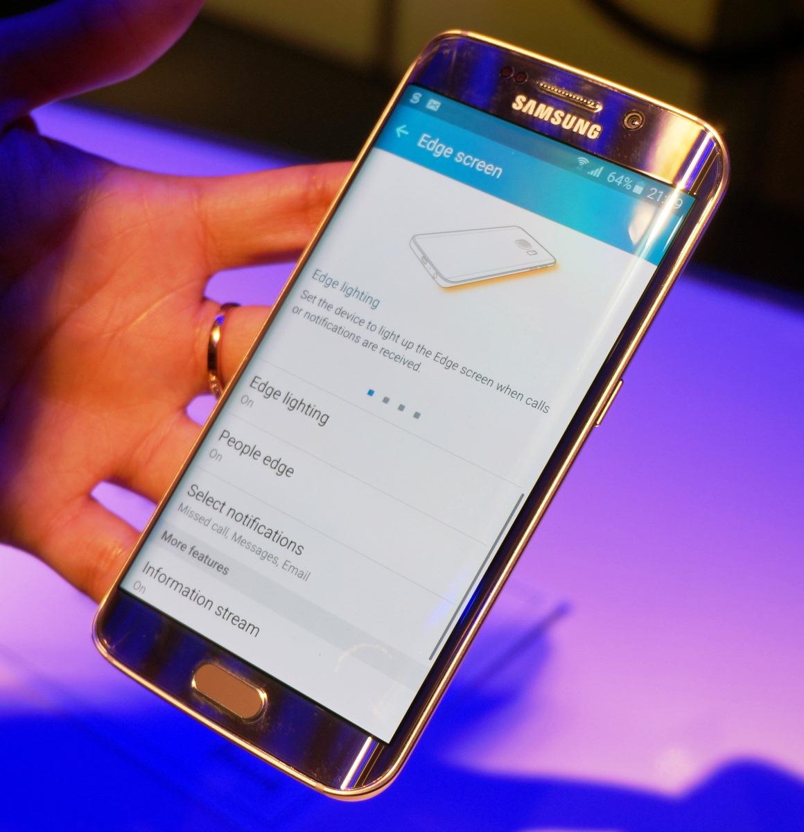 Samsung S6 Edge Gold Edition
