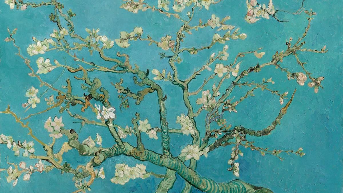 Цветущие ветки миндаля, Ван Гог