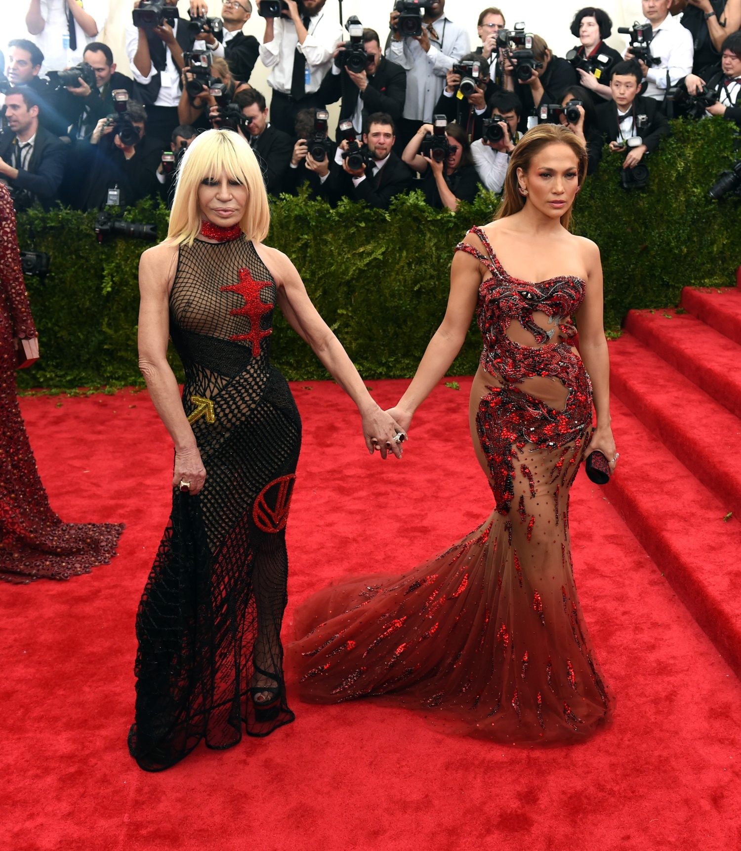 Donatella Versace and Jennifer Lopez 2015