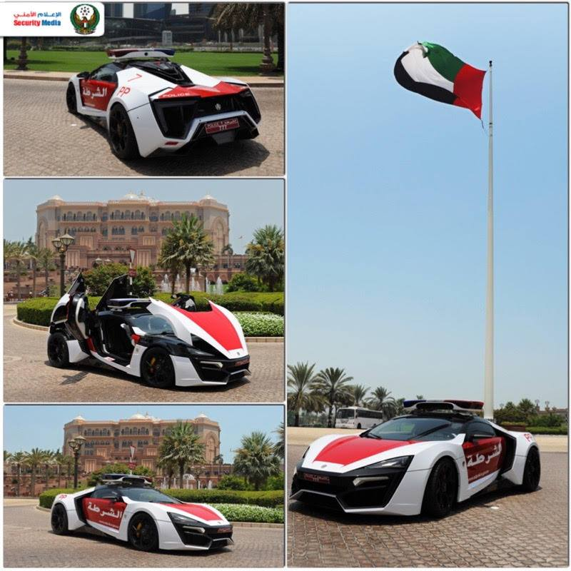 Lykan Hypersport Abu Dhabi Police GHQ