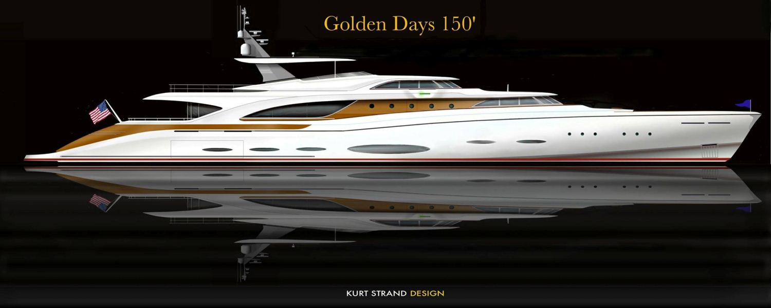 Retro Yacht Golden Days 150 Kurt Strand Design