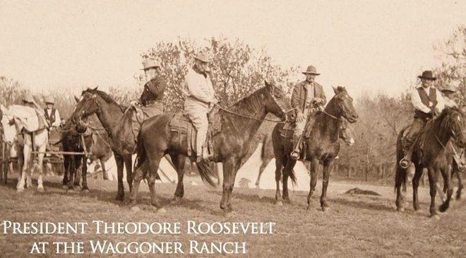 Теодор Рузвельт на ранчо Ваггонер