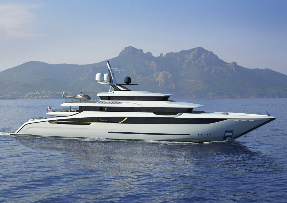 Aura yacht by Fincantieri and H2 Yacht Design
