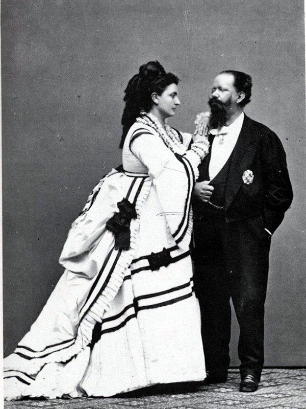 Роза Верселлана (Ла Белла Розин) и Виктор Эммануил II, 1869 год.