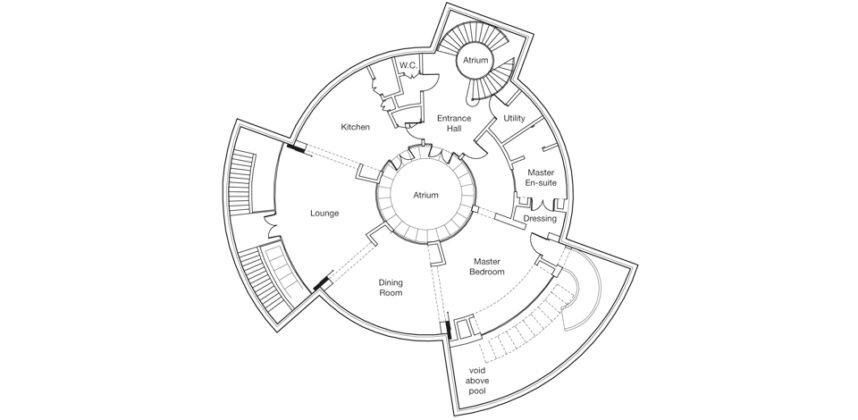 Подземный дом от NC Homes и Huntsmer