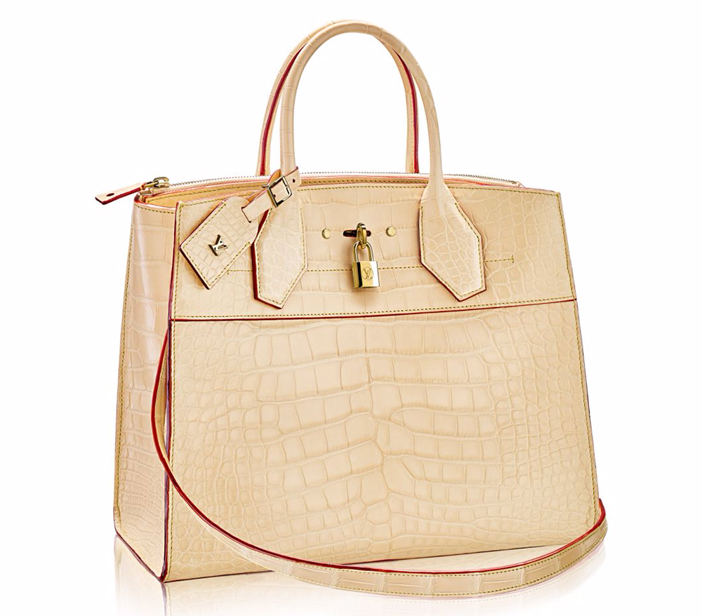 Louis Vuitton Crocodile City Steamer Bag