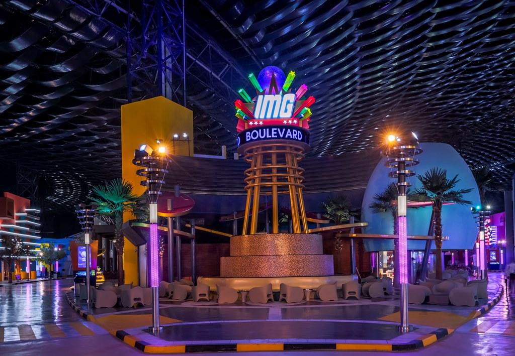 IMG Worlds of Adventure - IMG Boulevard Fountain