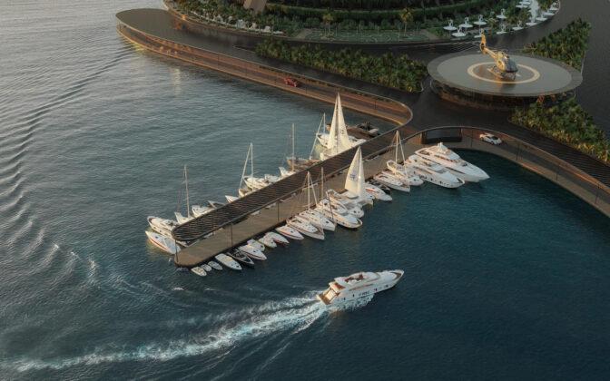 Плавучий курорт Eco-Floating Hotel в Катаре